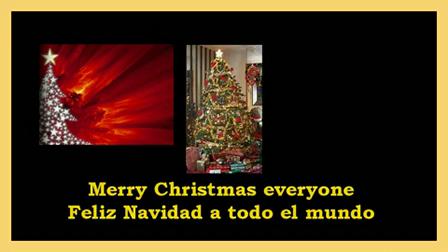 Merry Christmas Everyone -- Feliz Navidad a todo el mundo