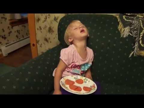 Little Pepperoni Girl Falls Asleep