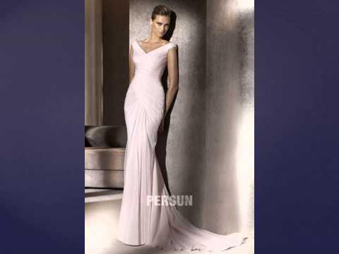 Sexy V neck wedding dresses online in 2015