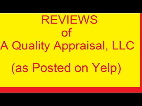 REVIEWS of A Quality Appraisal - Portland Appraisers - 503.781.5646