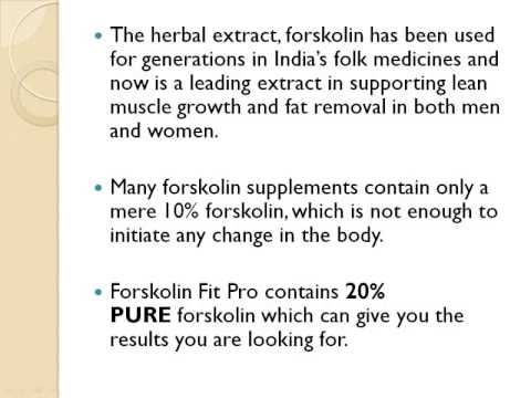 ForskolinFitPro - weight loss supplement