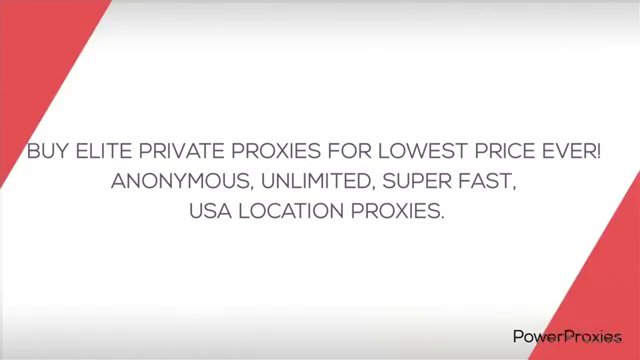 Buy Cheapest Elite Private Proxies + 50% DISCOUNT! PowerProxies.com [Fast Anonymous Unlimited Private Proxies]