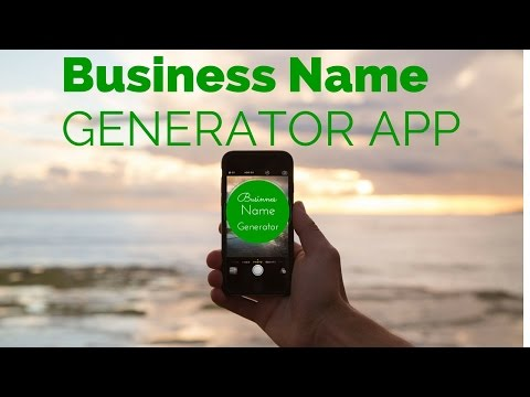 Business Name Generator Iphone & Android App by Shopify