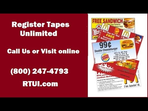 RTUI - Register Tapes Unlimited (800) 247-4793