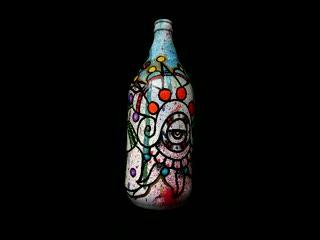 Mexica painted bottle