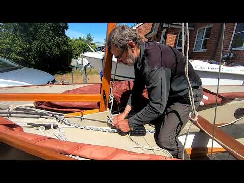 """Cornish Crabbers Coble    """"Stepping and lowering the mast"""""""