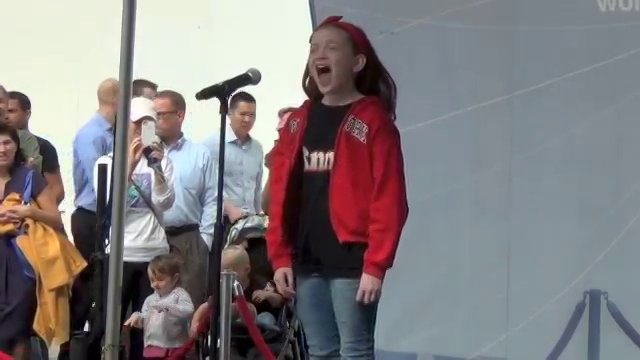 "Sadie Sink singing ""Tomorrow"""