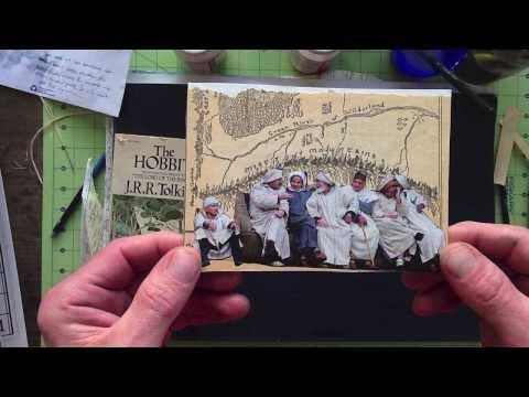 Making postcards: Misty Mountain Postcard