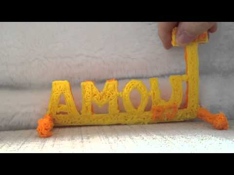 IUOMA 3D logo with 3D pen