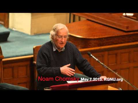 "Noam Chomsky: ""Another Threat To Our Survival"""