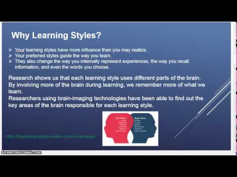 The Learning Styles