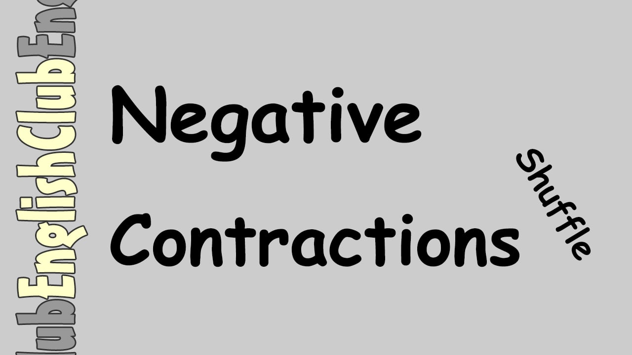 Negative Contractions Shuffle