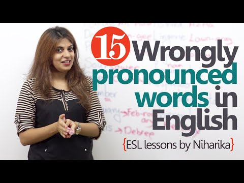 Learn English - 15 wrongly pronounced words in English (English lessons for speaking)