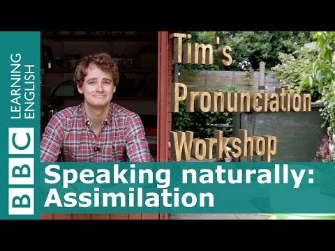 PRONUNCIATION: Assimilation of /t/ and /p/