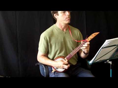 Loure by J.S. Bach on Soprano Banza (gourd banjo)
