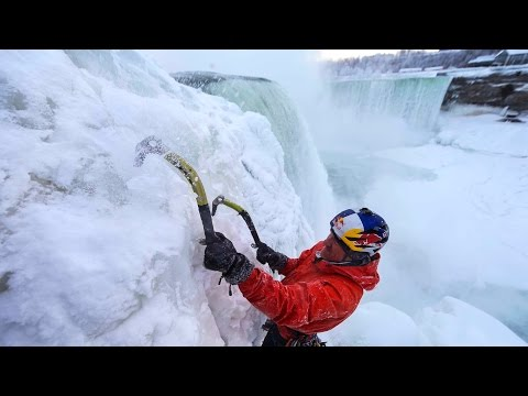 Ice Climbing Frozen Niagara Falls - Will Gadd's First Ascent