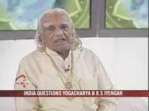bks iyengar at 90