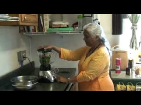 "Leela Mata Makes Mint Marigold Chutney on Makin' It Monday ""Guest Raw Chef"" Edition"
