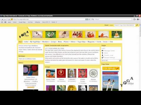 How to manage all settings of your My Yoga Vidya International page?