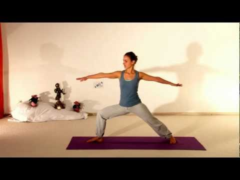 Vira Bhadrasana 2 - Visionary Hero Yoga Asana - silent Movie