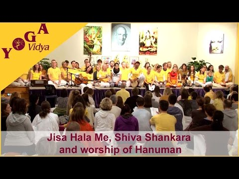 Jisa Hala Me, Jaya Shiva Shankara and a Hanuman worship chanted by a group of new Yogatecher