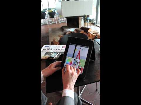 David Hockney drawing on iPad - Artists at Work