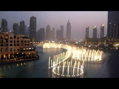 Dubai Fountains Whitney Houston Salute