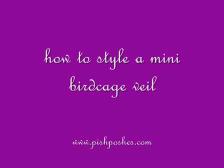 How to Style a Mini Birdcage Veil