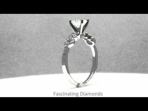 FDENS3043EMR Prong Set Petite Emerald Diamond Engagement Ring
