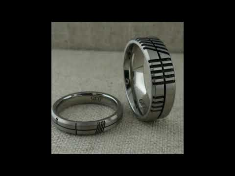Ogham Wedding Rings