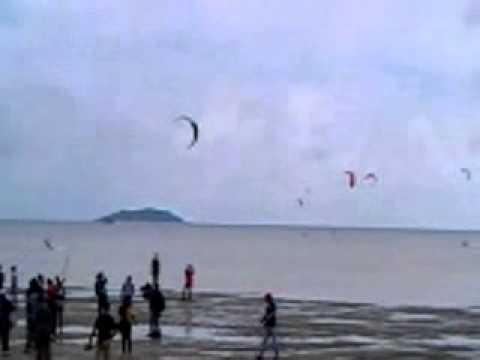 Kiteboarding Asian Championship tour 2013 at Bintan Indonesia