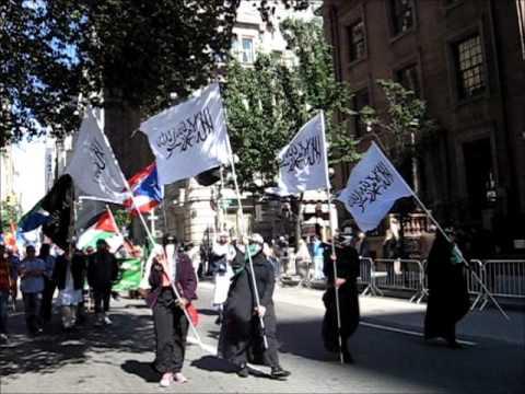 Jihad Flags @ Muslim Day Parade NYC 2013