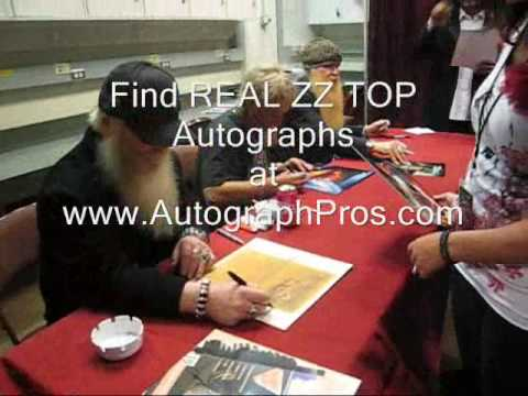 ZZ Top Signs Autographs for AutographPros.com
