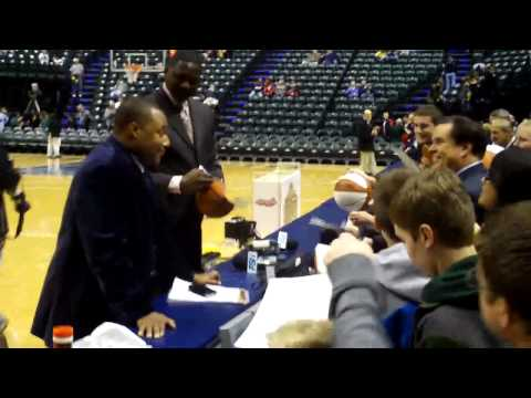 Dominique Wilkins Signing Autographs at an Indiana Pacers Game in Indianapolis