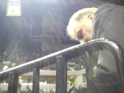 Larry Bird Signing Autographs at Indiana Pacers Game Indianapolis