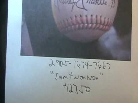 Mickey Mantle Derek Jeter Signed Autographed Baseball Ebay Seller