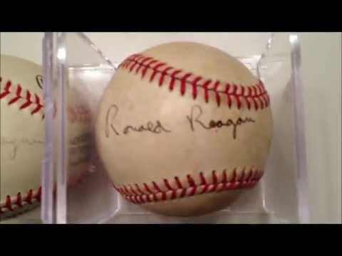 (2) Ronald Reagan / George Bush SIGNED Baseballs!
