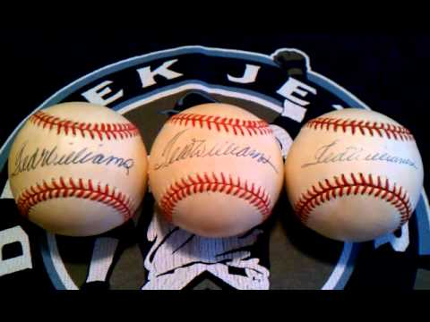 TED WILLIAMS AUTOGRAPH STUDY WHICH IS GOOD ?