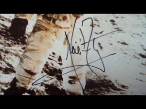 2x Flawless Uninscribed Neil Armstrong Signed Photos
