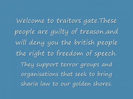 Traitors gate.