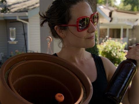 Flower Pot Fridge!