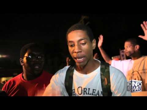 Peaceful Protestors Confront St Louis Police State