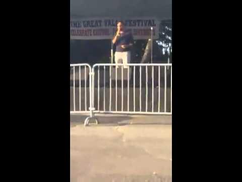 J. Cruz sings Live at the Great Falls Festival