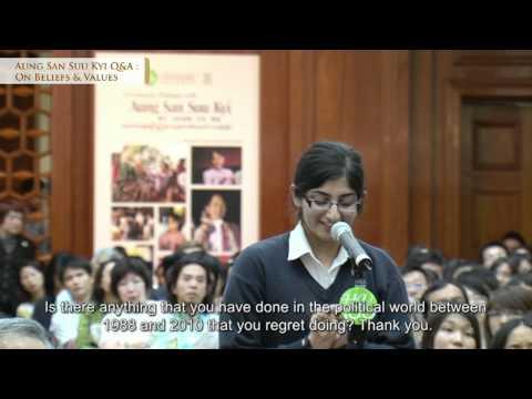 Aung San Suu Kyi Q&A : Beliefs & Values
