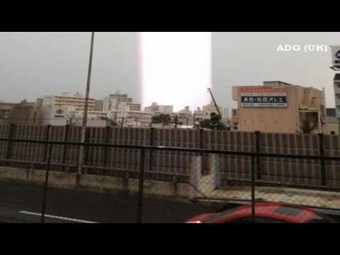 Mystery Light Beams Appear In Japan 2012 HD