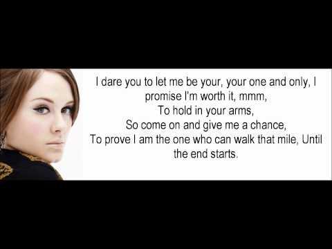 Adele One and Only Lyrics (Hd 1080p)