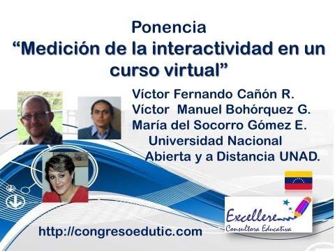 """Ponencia """"Medición de la interactividad en un curso virtual"""""""