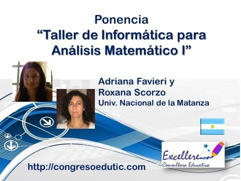 Ponencia de Adriana Favieri y Roxana Scorzo. Taller de Informática