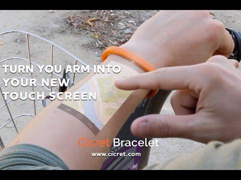 Innovación:La pulsera Cicret: Al igual que una tableta ... pero en su piel.