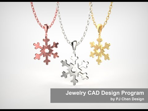 Jewelry CAD Design Tutorial #16: How to Make a Snowflake Pendant 3D Model in Rhino 5
